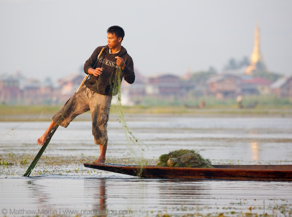 Leg Rowing Fishermen Inle Lake