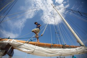 "Time to rig the sails and set out for the open sea! (Great, now I'll be humming ""Come Sail Away"" for the next week)"